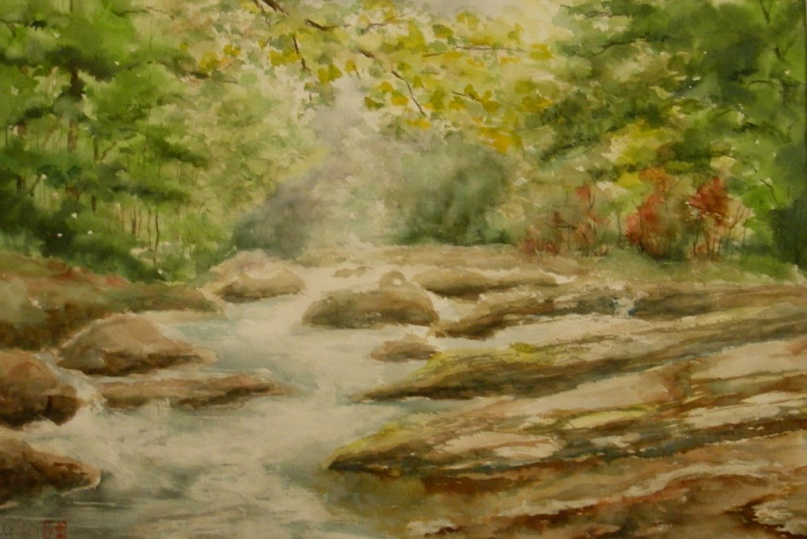 Stream in The forest (22x15)